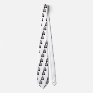 Funny Straight Outta Bed Print Neck Tie