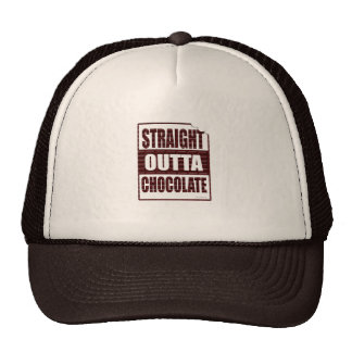 Funny Straight Outta Chocolate Design Trucker Hat