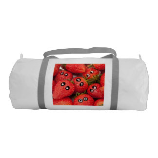 Funny strawberries. gym bag