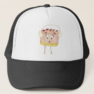 Funny Strawberry Cheesecake Quirky Cake Art Design Trucker Hat