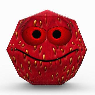 Funny Strawberry Emoticon Acrylic Award