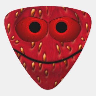 Funny Strawberry Smiley Pick