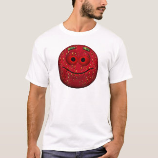 Funny Strawberry Smiley T-Shirt