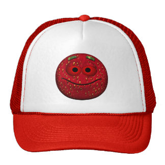 Funny Strawberry Smiley Trucker Hat