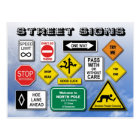 Funny Street (Road) Signs Postcard