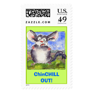 Funny Stress Cartoon Custom Postage Stamps