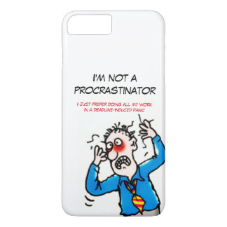Funny Stressed Out Cartoon Man iPhone 8 Plus/7 Plus Case