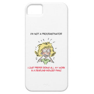 Funny Stressed Out Woman Procrastinator iPhone SE/5/5s Case