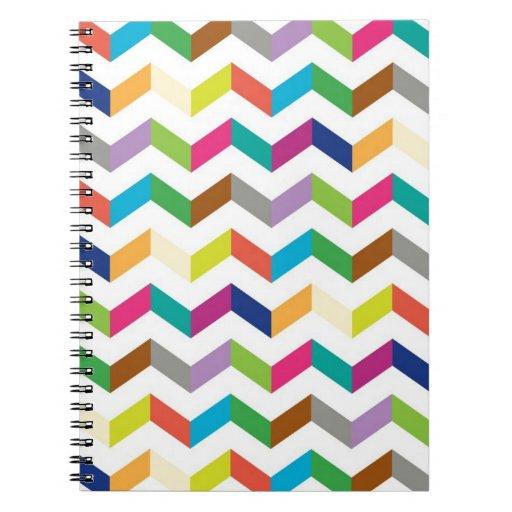 Funny stripe spiral notebook