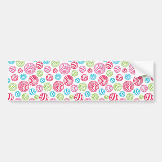 Funny Striped Candies in pastel colors: blue, pink Bumper Sticker