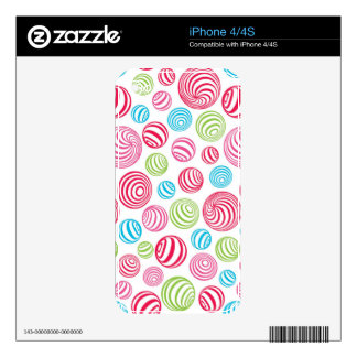 Funny Striped Christmas Candies in pastel colors Decals For iPhone 4S