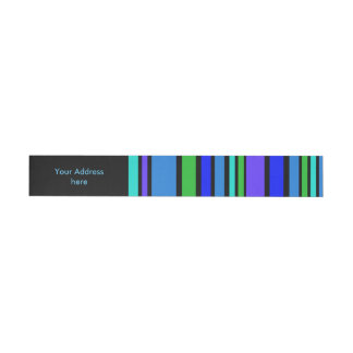 Funny Stripes colored IV + your background color Wrap Around Address Label