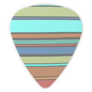 Funny Stripes colored XII + your background color White Delrin Guitar Pick