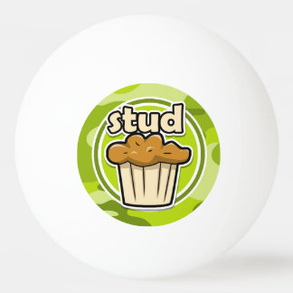 Funny Stud Muffin on green camo Ping-Pong Ball