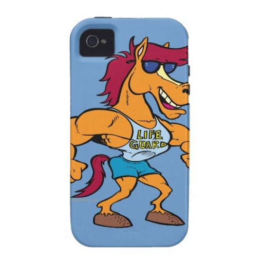 funny stud stallion horse cartoon iPhone 4/4S cover