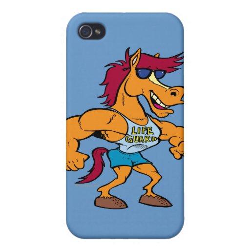 funny stud stallion horse cartoon iPhone 4/4S cases