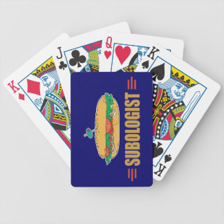 Funny Sub Sandwich Bicycle Playing Cards