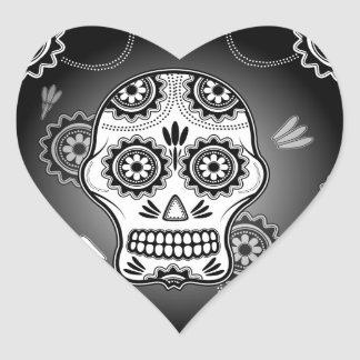 Funny  sugar skull heart sticker