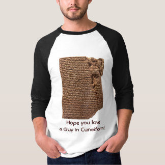 "Funny ""Sumerian Cuneiform Writing"" T-Shirts"