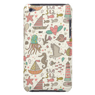 Funny Summer Pattern With Ships Barely There iPod Cover