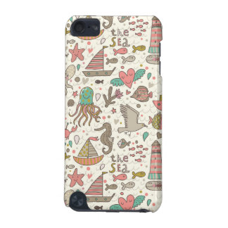 Funny Summer Pattern With Ships iPod Touch 5G Cover