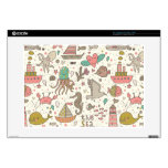 """Funny Summer Pattern With Ships Decal For 15"""" Laptop"""
