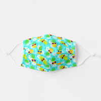 Funny Summer Tropical Pineapples Cloth Face Mask