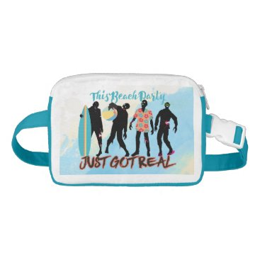 Beach Themed Funny summer zombie beach party just got real fanny pack