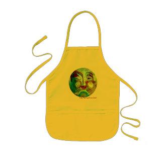 Funny Sun Face Kitty Kat Sunface apron