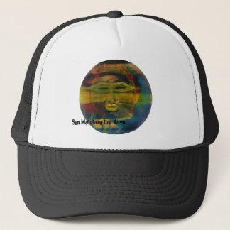 Funny Sun Face, Sun Watching Moon Sport Hats
