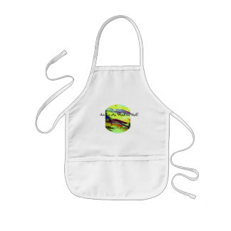 Funny Sun Faces, Abstract Art Apron, Child Kids' Apron