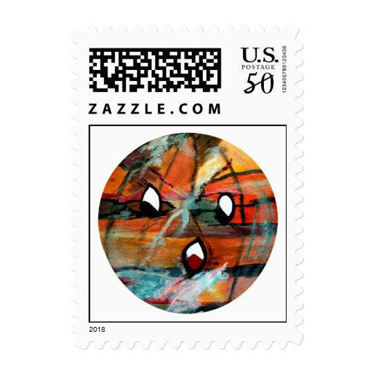 Funny Sun Faces Halloween Postage