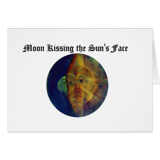 Funny Sun Faces, Moon Kissing Sun Cards & Postage