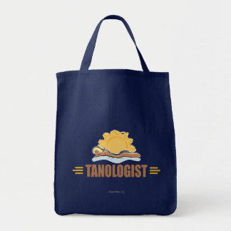 Funny Sun Tanning Grocery Tote Bag