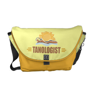 Funny Sun Tanning Courier Bag