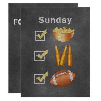 Funny Sunday Football Checklist Card