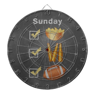 Funny Sunday Football Checklist Dart Board