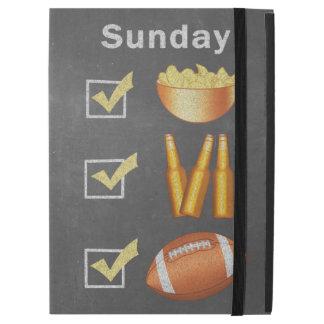 """Funny Sunday Football Checklist iPad Pro 12.9"""" Case"""