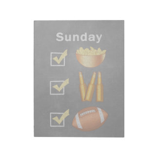 Funny Sunday Football Checklist Notepad
