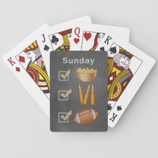 Funny Sunday Football Checklist Playing Cards