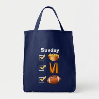 Funny Sunday Football Checklist Tote Bag