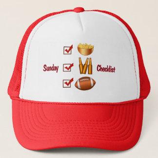 Funny Sunday Football Checklist Trucker Hat