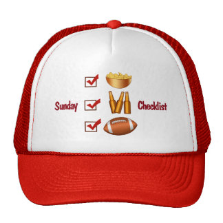 Funny Sunday Football Checklist Trucker Hat