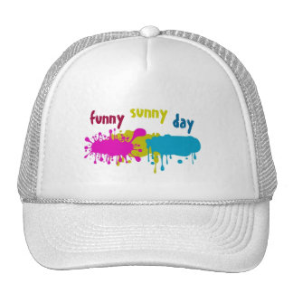 funny sunny day trucker hat
