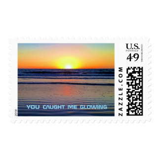 Funny Sunset Chillwave Glow Postage