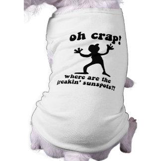 Funny sunspots doggie tshirt