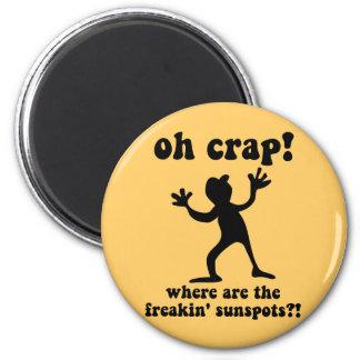 Funny sunspots fridge magnet