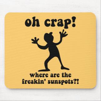 Funny sunspots mouse pad