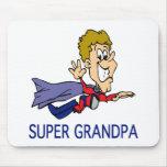Funny Super Grandpa Mouse Pad