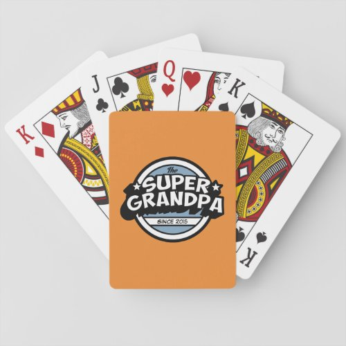 Funny Super Grandpa Playing Cards